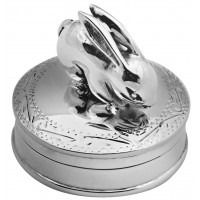 PB528   Ari D Norman Sterling Silver Rabbit Pill Box